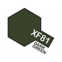"""Matiniai tamsiai žali dažai """"XF81"""""""