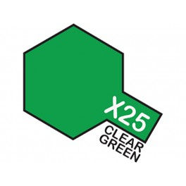 "Skaidrūs žali dažai ""X25"""