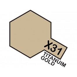 """Blizgūs titano/aukso dažai """"X31"""""""