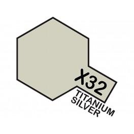 """Blizgūs titano/sidabro dažai """"X32"""""""