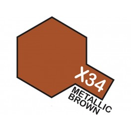 """Blizgūs rudo metaliko dažai """"X34"""""""