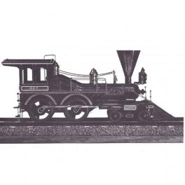 Lokomotyvas su tenderiu 1860