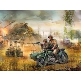 Motociklas M-72 su priekaba