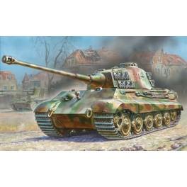 Tankas King Tiger su Henschel bokšteliu